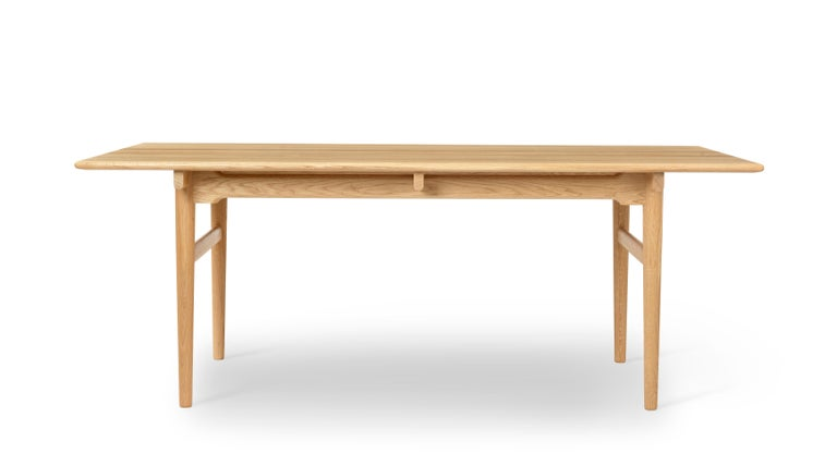 For Sale: Brown (Oak Oil) CH327 Small Dining Table in Wood Finish by Hans J. Wegner