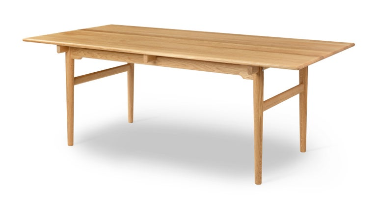 For Sale: Brown (Oak Oil) CH327 Small Dining Table in Wood Finish by Hans J. Wegner 2
