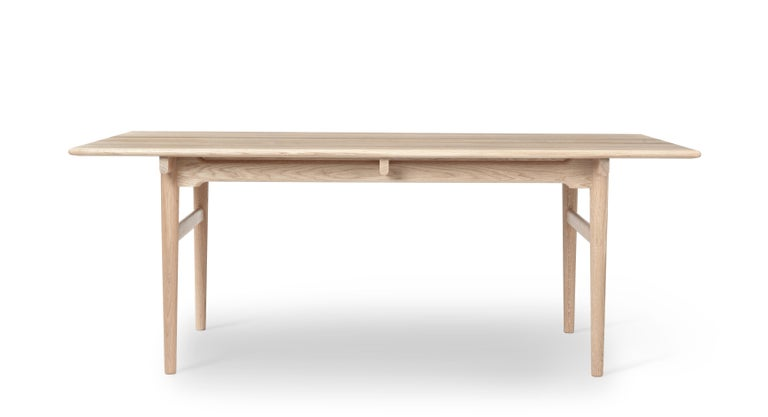 For Sale: Brown (Oak Soap) CH327 Small Dining Table in Wood Finish by Hans J. Wegner