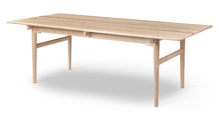 For Sale: Beige (Oak White Oil) CH327 Large Dining Table in Wood Finish by Hans J. Wegner 2