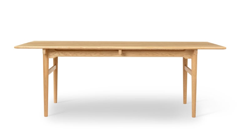 For Sale: Brown (Oak Oil) CH327 Large Dining Table in Wood Finish by Hans J. Wegner