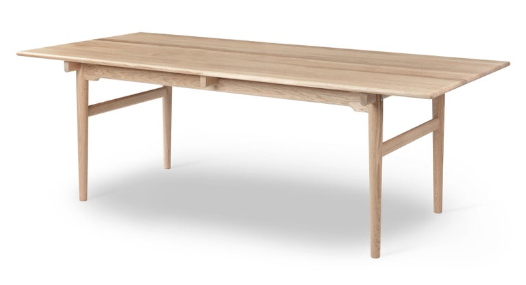 For Sale: Brown (Oak Soap) CH327 Large Dining Table in Wood Finish by Hans J. Wegner 2