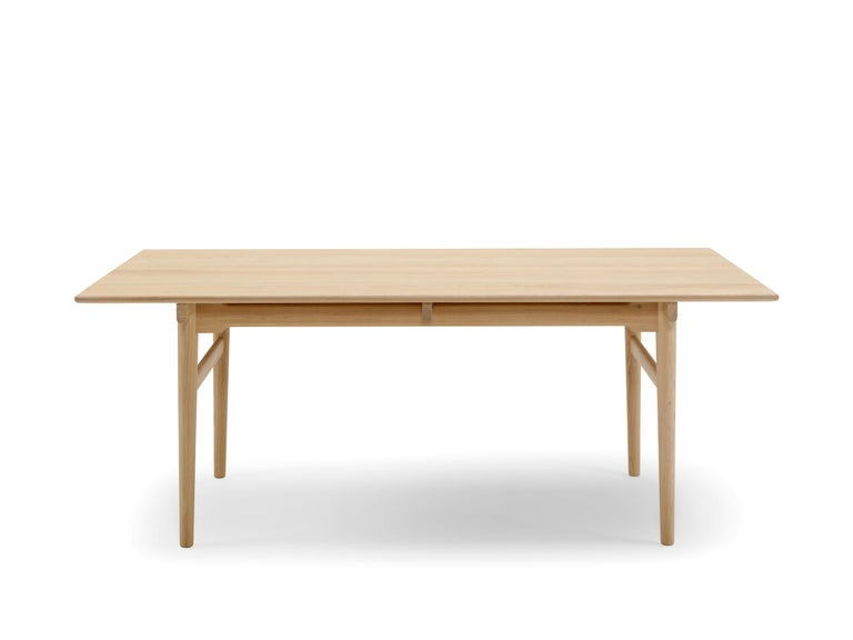 CH327 Large Dining Table in Wood Finish by Hans J. Wegner For Sale 13