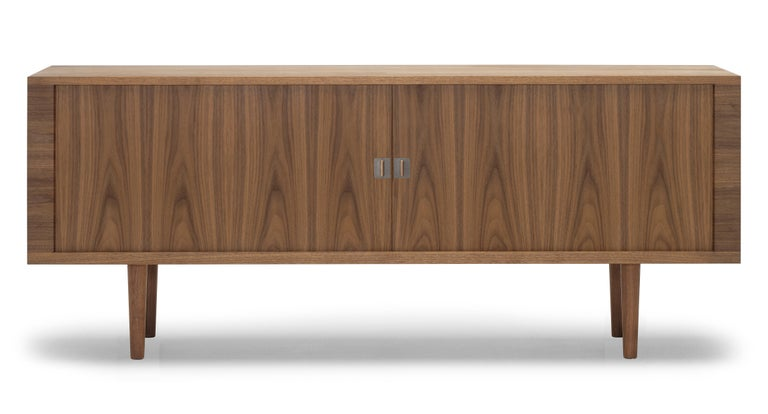 For Sale: Brown (Walnut Oil) CH825 Credenza with Wood Base by Hans J. Wegner