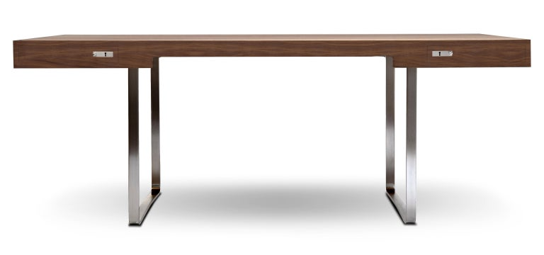 For Sale: Brown (Walnut Oil) CH110 Desk in Wood by Hans J. Wegner