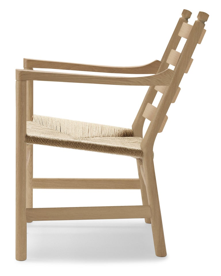 For Sale: Brown (Oak Soap) CH44 Lounge Chair in Wood with Natural Papercord Seat by Hans J. Wegner 2