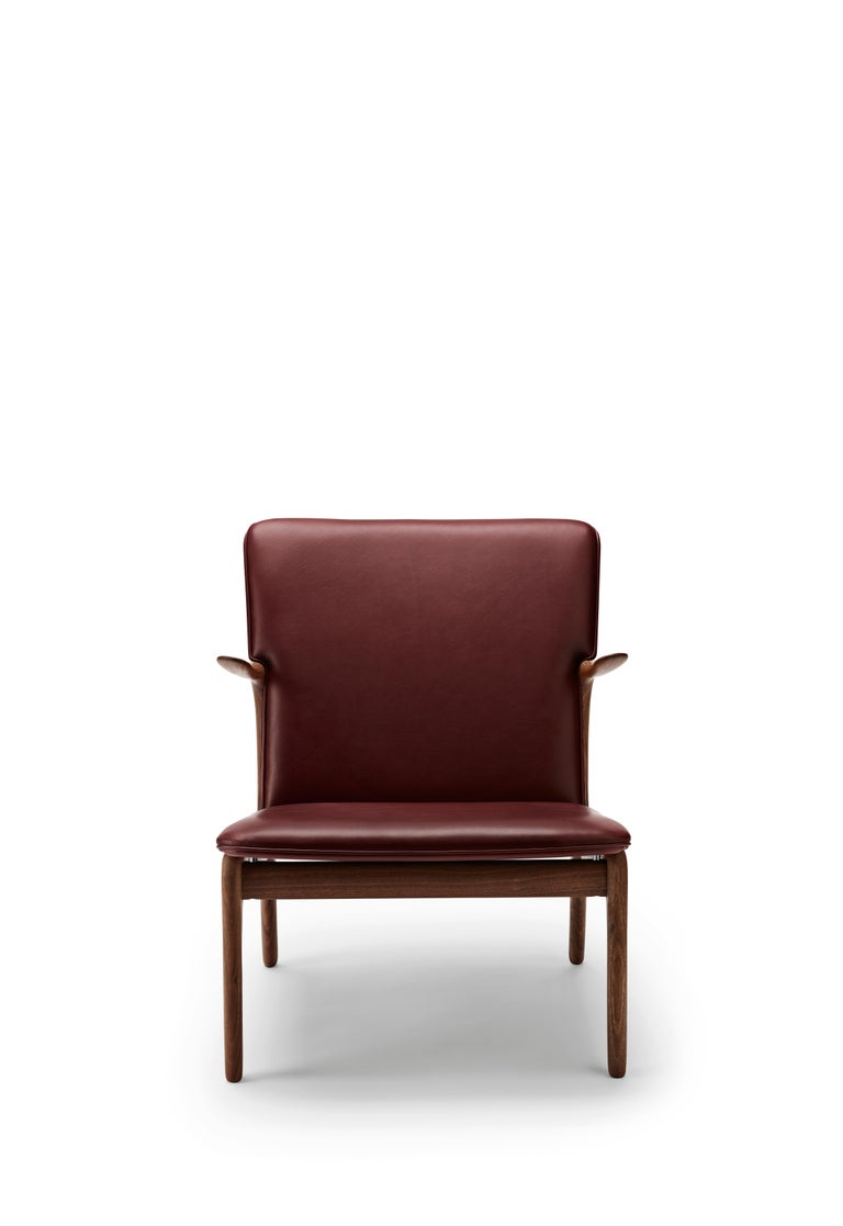For Sale: Red (Sif 93) OW124 Beak Chair in Walnut Oil by Ole Wanscher