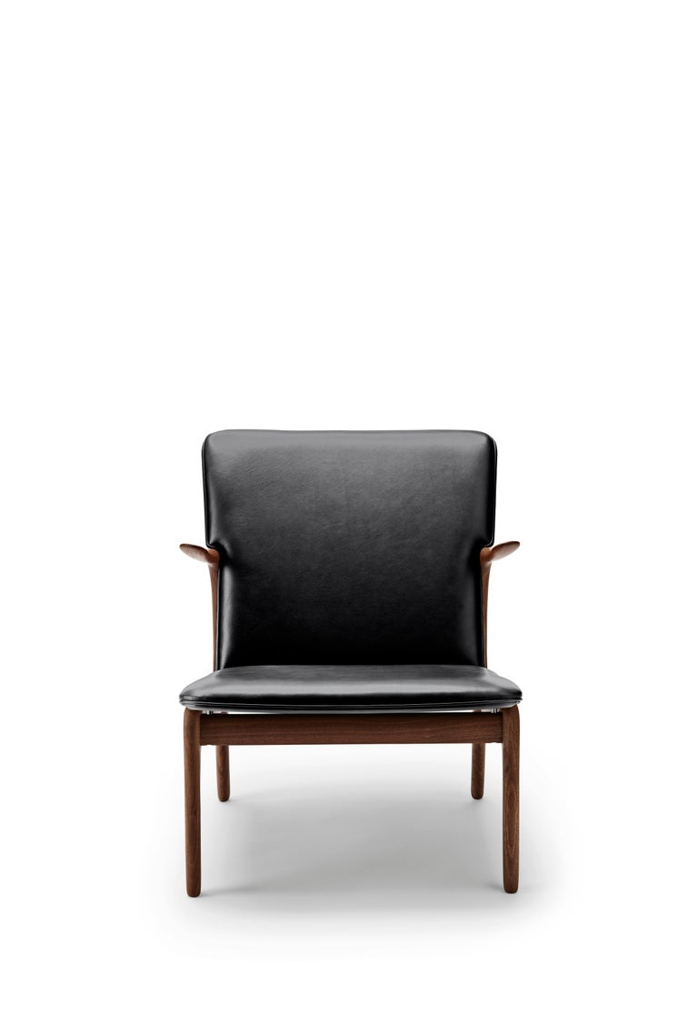 For Sale: Black (Thor 301) OW124 Beak Chair in Walnut Oil by Ole Wanscher