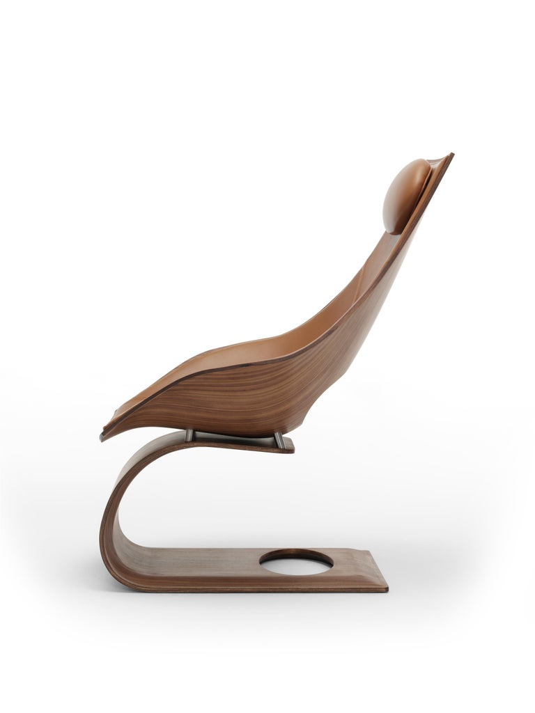 For Sale: Brown (Sif 95) TA001P Dream Chair with Cushion in Walnut Oil by Tadao Ando 3