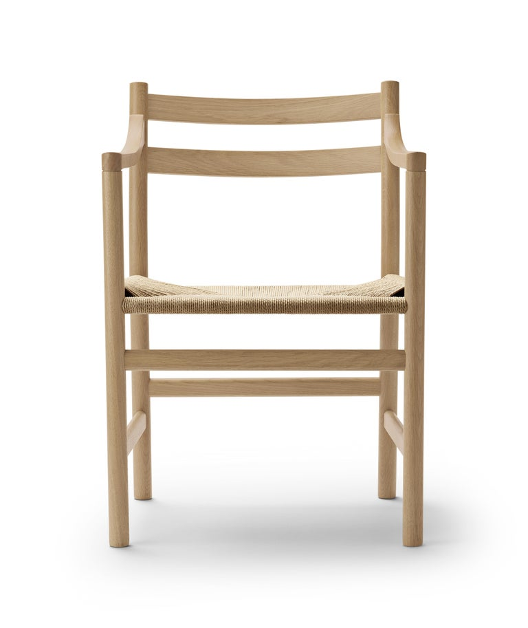 For Sale: Brown (Oak Soap) CH46 Dining Chair in Wood Finishes with Natural Papercord Seat by Hans J. Wegner