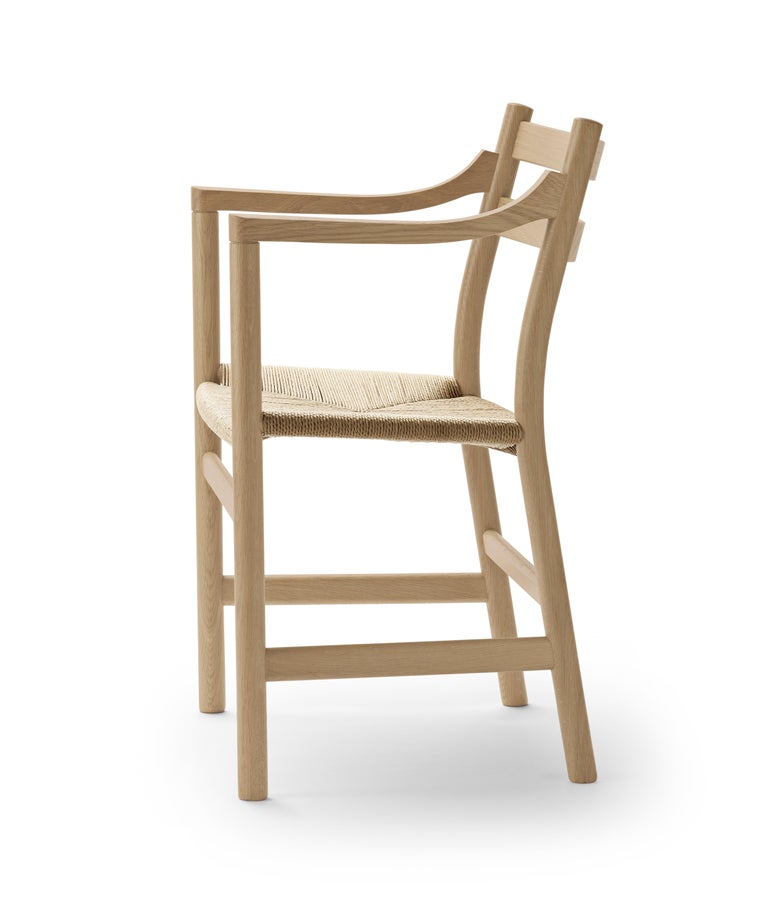 For Sale: Brown (Oak Soap) CH46 Dining Chair in Wood Finishes with Natural Papercord Seat by Hans J. Wegner 2