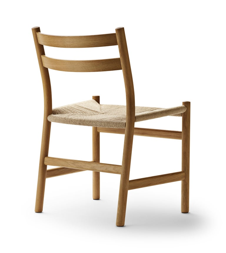 For Sale: Brown (Oak Oil) CH47 Dining Chair in Wood Finishes with Natural Papercord Seat by Hans J. Wegner 2