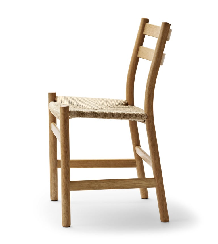For Sale: Brown (Oak Oil) CH47 Dining Chair in Wood Finishes with Natural Papercord Seat by Hans J. Wegner 3
