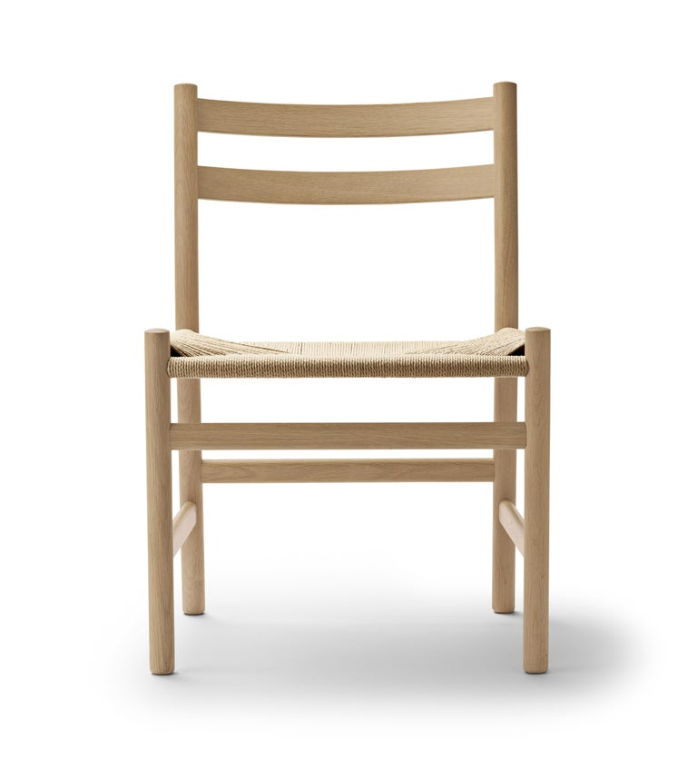 For Sale: Brown (Oak Soap) CH47 Dining Chair in Wood Finishes with Natural Papercord Seat by Hans J. Wegner