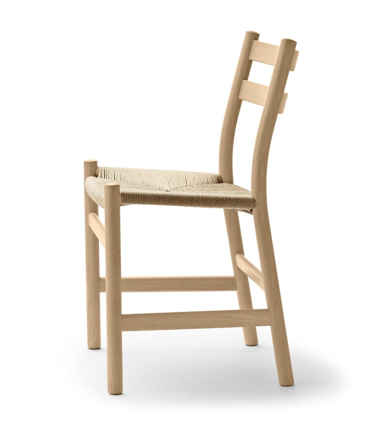 For Sale: Brown (Oak Soap) CH47 Dining Chair in Wood Finishes with Natural Papercord Seat by Hans J. Wegner 2