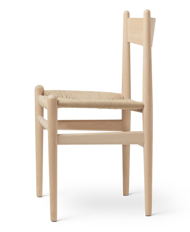For Sale: Beige (Beech Soap) CH36 Dining Chair in Wood Finishes with Natural Papercord Seat by Hans J. Wegner 2