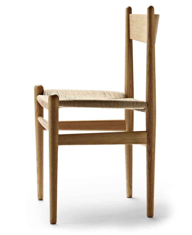 For Sale: Brown (Oak Oil) CH36 Dining Chair in Wood Finishes with Natural Papercord Seat by Hans J. Wegner 2