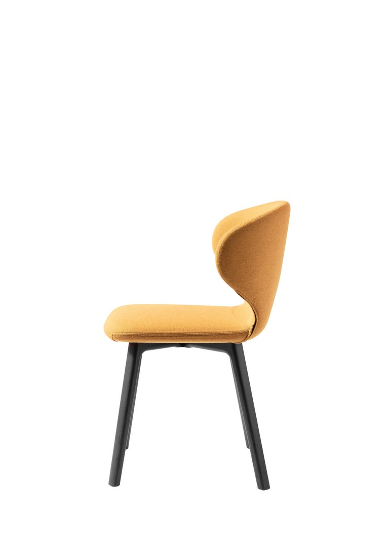 For Sale: Yellow (Kvadrat Melange Nap_461) Mula Chair in Stained Black Ash Base, Upholstery Seat, by E-GGs 2