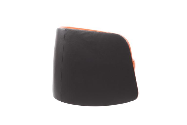 For Sale: Orange (Maine) De Sede Customizable Leather Rocking Chair 3