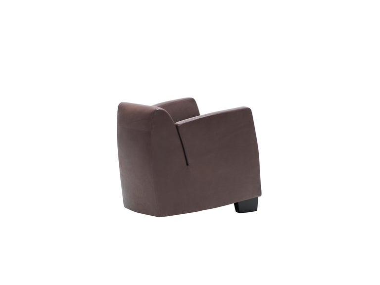 For Sale: Brown (Cafe) De Sede Leather Club Chair by Kurt Erni 2