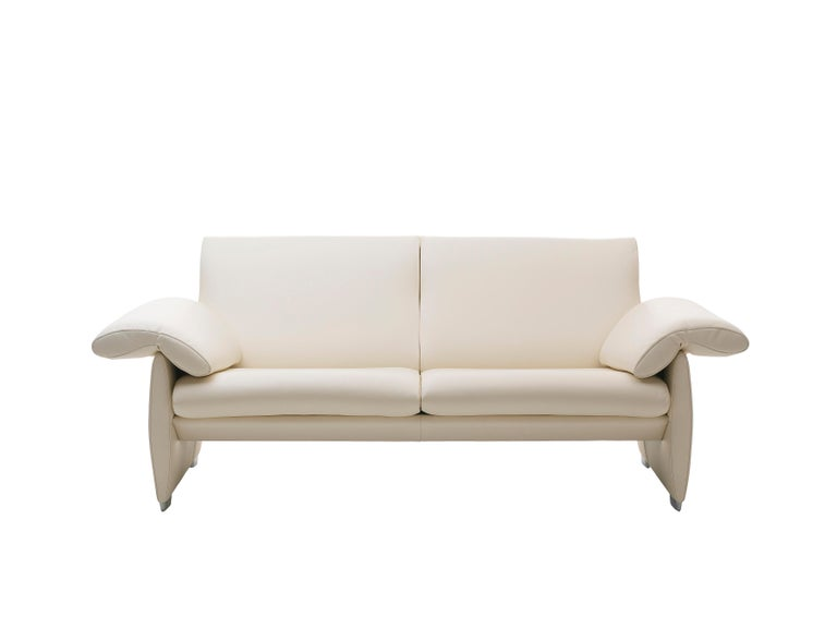 For Sale: White (Offwhite) De Sede Adjustable Leather Sofa