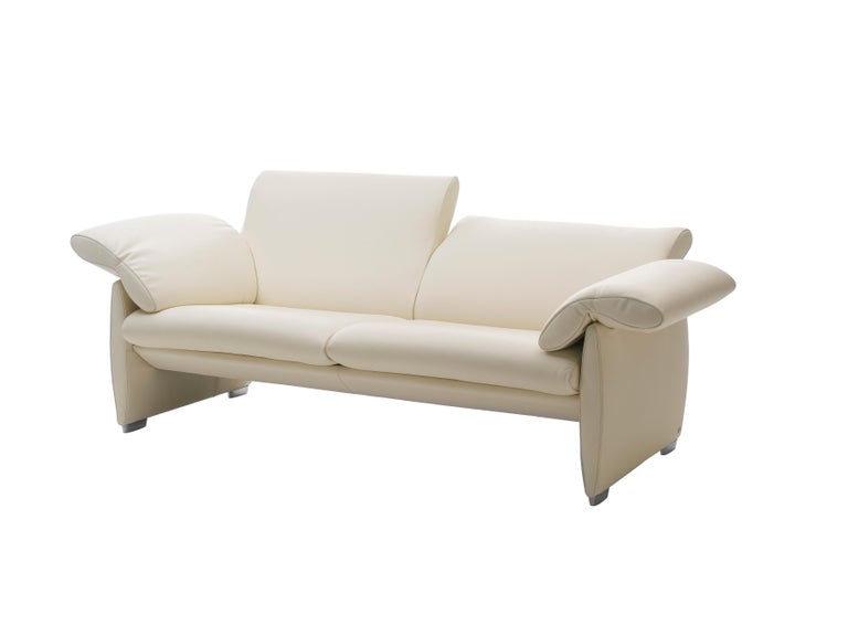 For Sale: White (Offwhite) De Sede Adjustable Leather Sofa 2