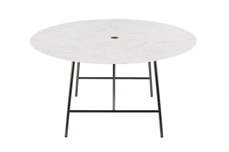 For Sale: White (Bianco Carrara) Salvatori Medium W Round Dining Table 3