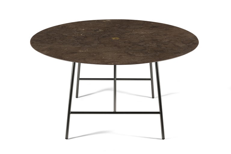 For Sale: Brown (Pietra d'Avola) Salvatori Medium W Round Dining Table 3