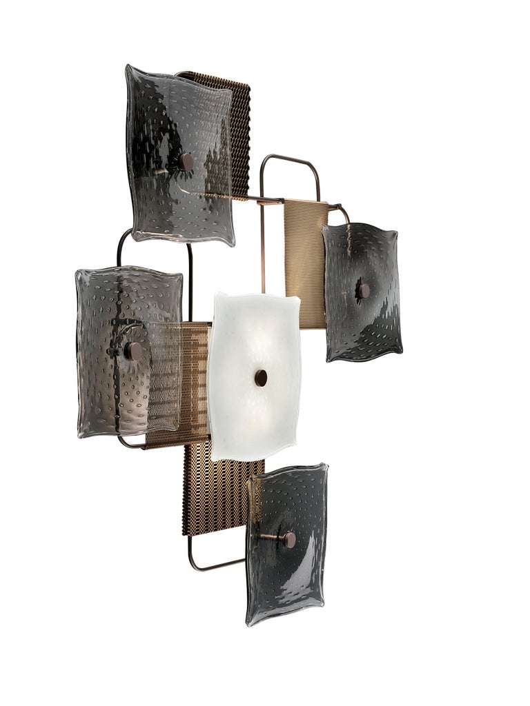 For Sale: Gray (Grey_IC) Alumina 7284 Wall Sconce in Glass, by Alessandro Piva from Barovier&Toso 2