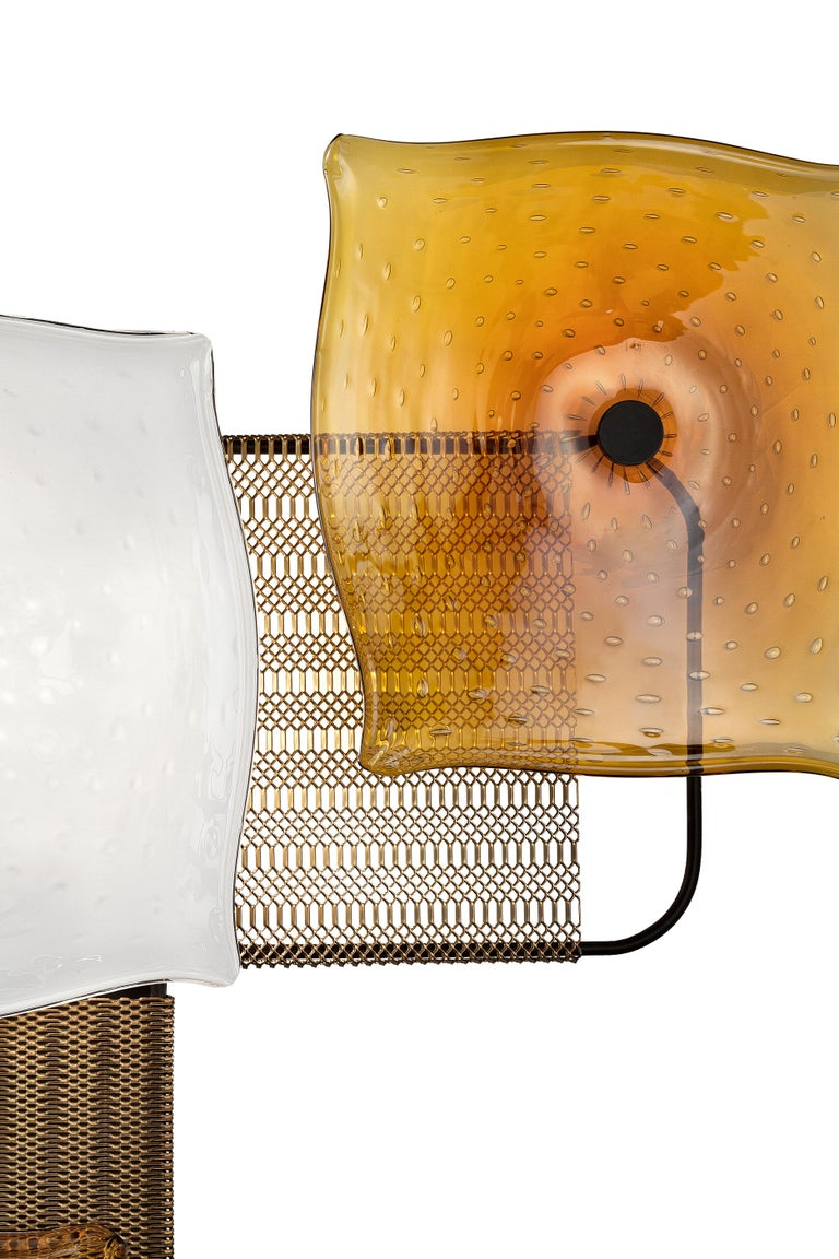 For Sale: Orange (Caramel_CA) Alumina 7284 Wall Sconce in Glass, by Alessandro Piva from Barovier&Toso