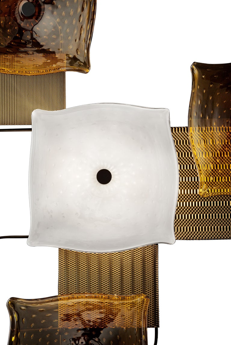 For Sale: Orange (Caramel_CA) Alumina 7284 Wall Sconce in Glass, by Alessandro Piva from Barovier&Toso 3