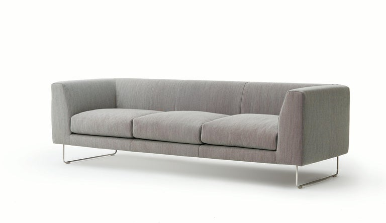For Sale: Multi (Hallingdal 2 126) Cappellini Elan Three-Seat Sofa with Fabric or Leather by Jasper Morrison 2