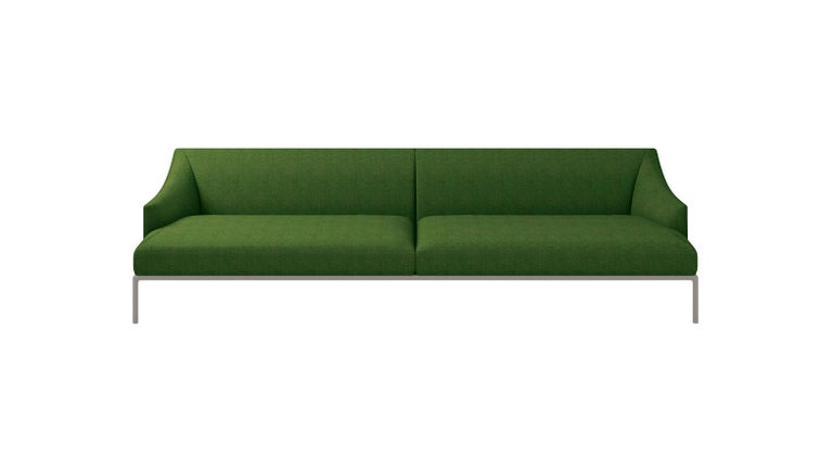 For Sale: Green (Hallingdal 2 960) Cappellini High Time Three-Seat Sofa in Fabric or Leather by Christophe Pillet
