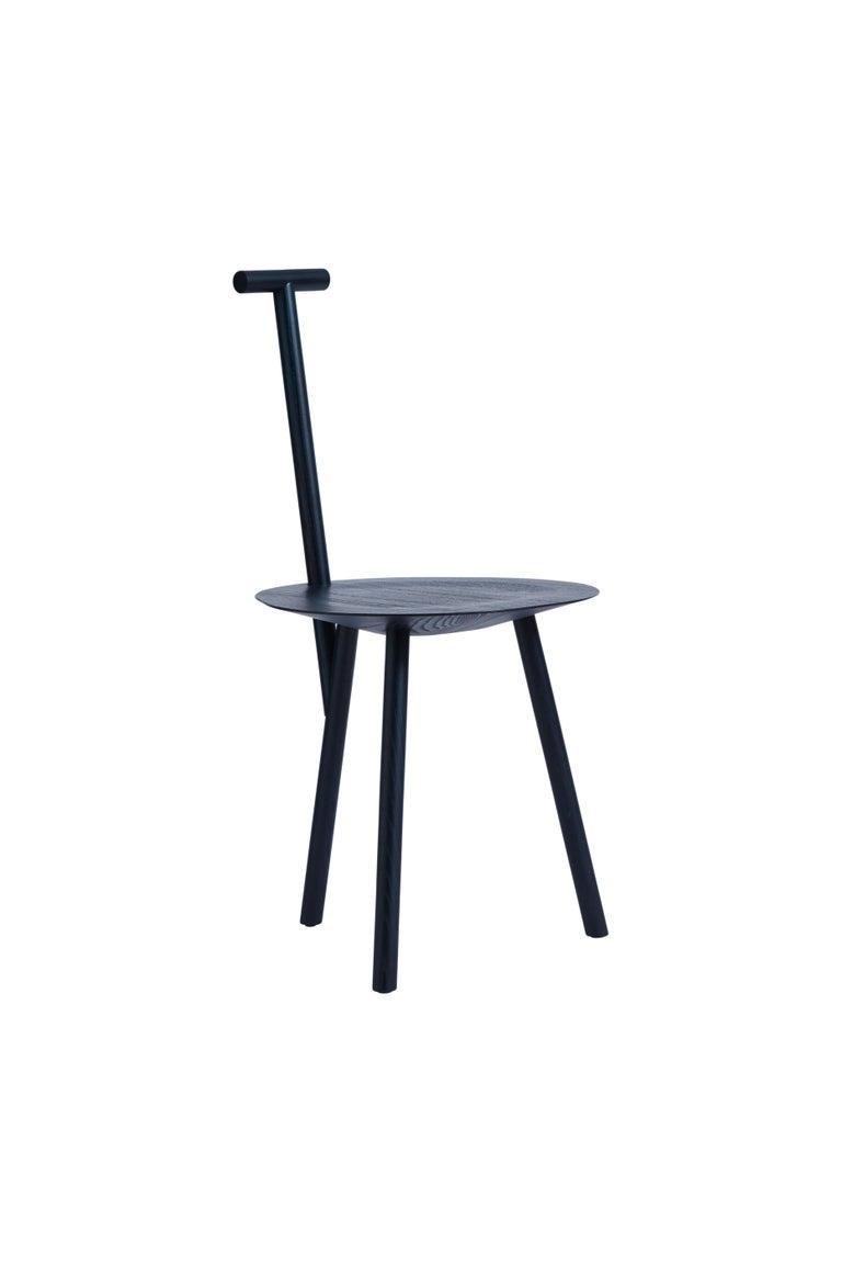 For Sale: Blue (Navy Blue) Spade Ashwood Corner Chair by Faye Toogood