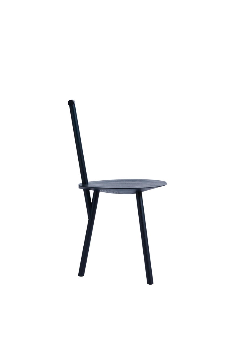 For Sale: Blue (Navy Blue) Spade Ashwood Corner Chair by Faye Toogood 2