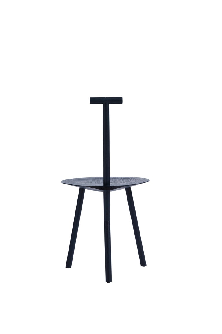 For Sale: Blue (Navy Blue) Spade Ashwood Corner Chair by Faye Toogood 3