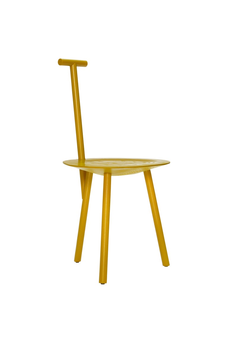 For Sale: Yellow (Turmeric Yellow) Spade Ashwood Corner Chair by Faye Toogood