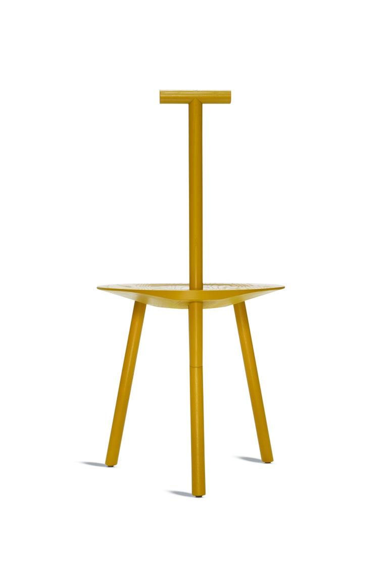 For Sale: Yellow (Turmeric Yellow) Spade Ashwood Corner Chair by Faye Toogood 2