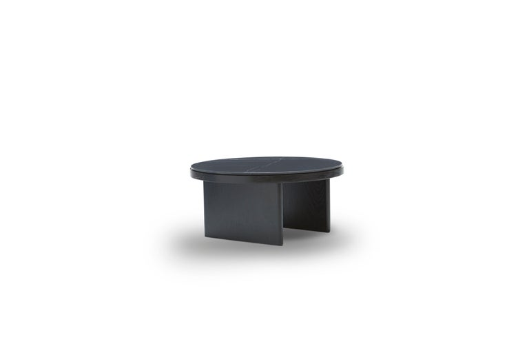 For Sale: Black (Stained Black) Anza Black Carrara Marble Coffee Table 2