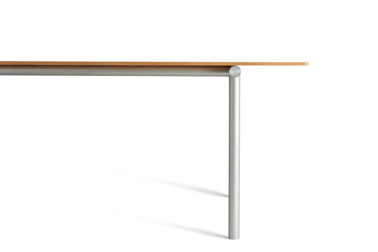 For Sale: Brown (Oregon Pine) Tubby Tube Small Dining Table with Aluminum Frame by Faye Toogood 2