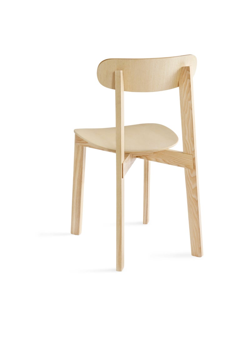 For Sale: Brown (Natural Ash) Bondi Stackable Dining Chair in Ashwood 2