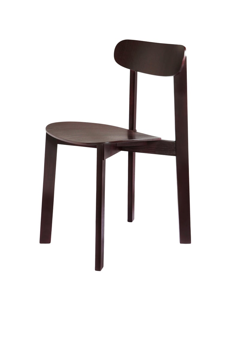 For Sale: Purple (Fig Purple) Bondi Stackable Dining Chair in Ashwood