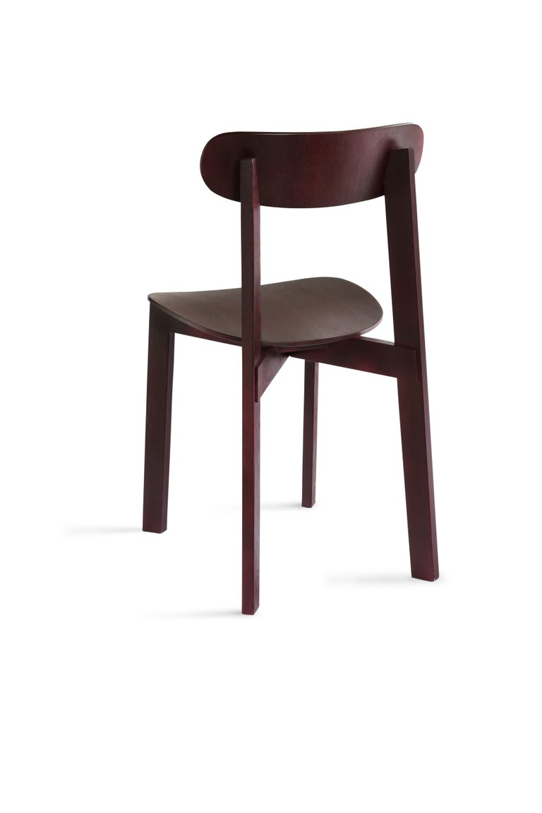 For Sale: Purple (Fig Purple) Bondi Stackable Dining Chair in Ashwood 2
