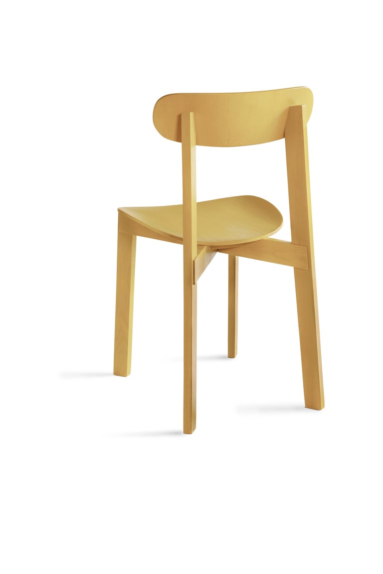 For Sale: Yellow (Turmeric Yellow) Bondi Stackable Dining Chair in Ashwood 2