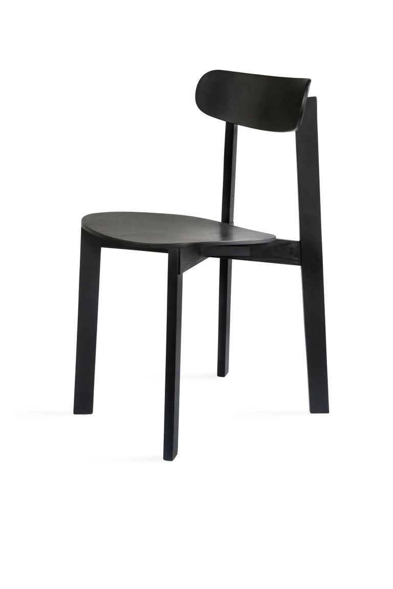 For Sale: Black Bondi Stackable Dining Chair in Ashwood
