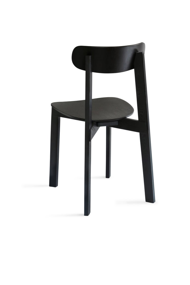 For Sale: Black Bondi Stackable Dining Chair in Ashwood 2