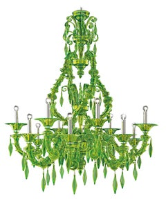 San Giorgio 5558 16 Chandelier in Glass, by Barovier&Toso