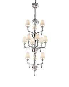 Torpedo Nevada 7141 12 Chandelier in Glass with White Shade, by Barovier&Toso