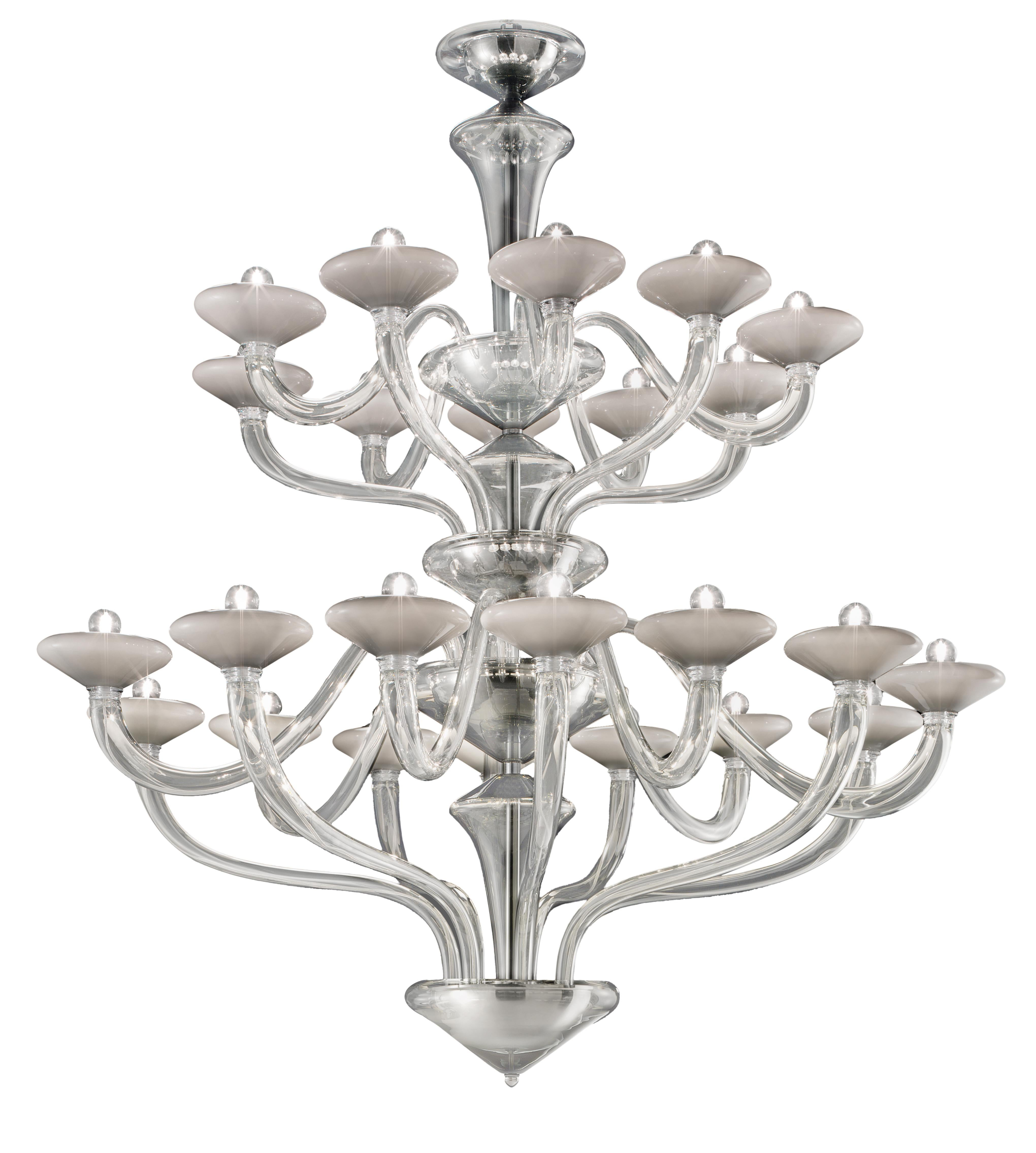 Windsor 5676 24 Chandelier in Glass, by Barovier&Toso