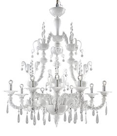 Dhamar 5596 09 Chandelier in Glass, by Barovier&Toso